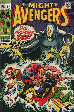 Avengers 68 cover by John Buscema ultron