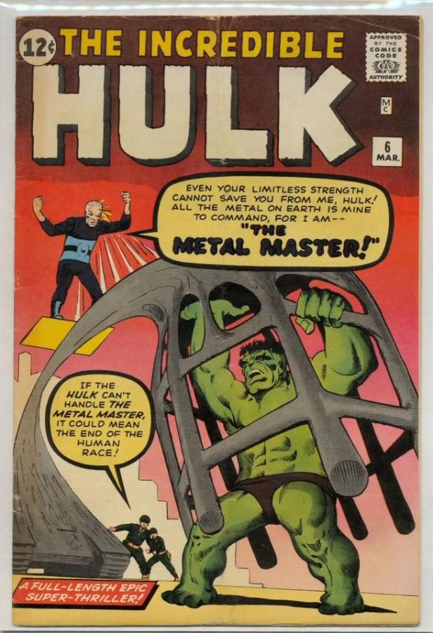 hulk 6 cover 1963