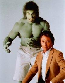 Hulk e Banner por Lou Ferrigno e Bill Bixby: grande sucesso na TV.