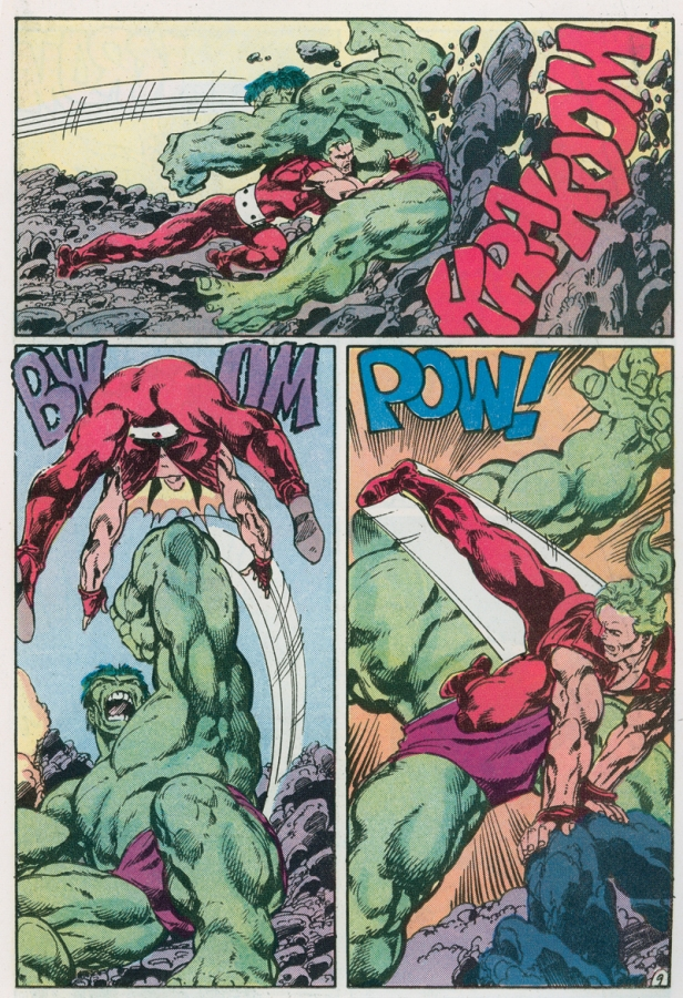 Hulk vs Doc Samson by John Byrne