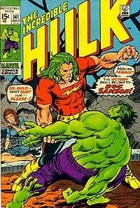 """A introdução de Leonard Samson em """"Incredible Hulk 141""""."""