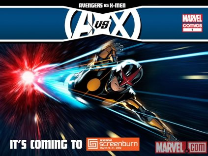 "Poster com Nova em ""Avengers Vs. X-Men""."