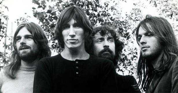 Pink Floyd em tempos áureos: Wright, Waters, Mason e Gilmour.