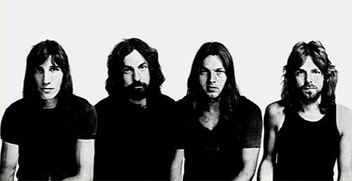 O Pink Floyd em 1972: Waters, Mason, Gilmour e Wright.