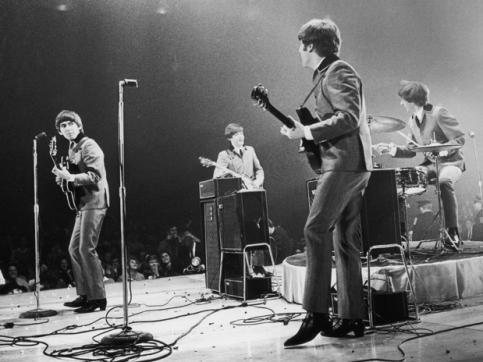 Os Beatles ao vivo em Washington-DC.