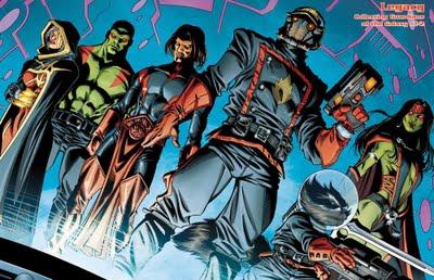 Guardiões da Galáxia nos quadrinhos.