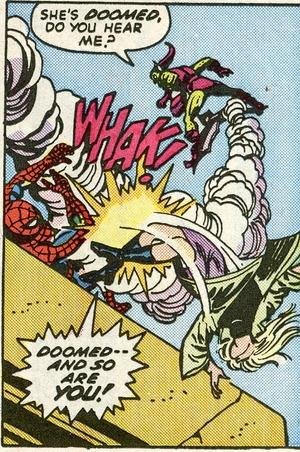 A trágica cena envolvendo o Homem-Aranha, Gwen Stacy e o Duende Verde.