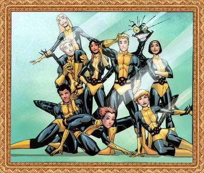 Os Novos Mutantes nos quadrinhos.
