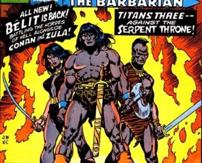 Conan: grande sucesso nos anos 1970, com textos de Roy Thomas.
