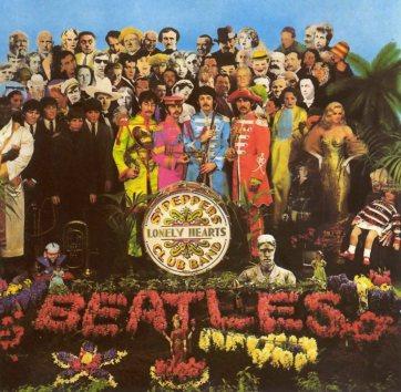 A icônica capa de Sgt. Peppers, de 1967.