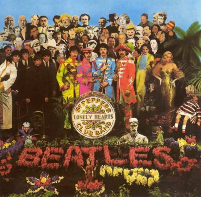Capa de Sgt. Peppers, um dos discos mais importantes da história.