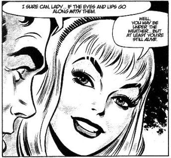 Peter e Gwen Stacy nos quadrinhos, na arte de John Romita.