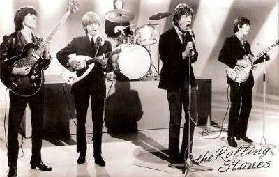 Os Rolling Stones ao vivo em 1964.
