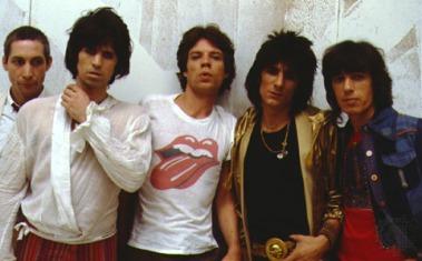 Os Rolling Stones nos anos 1980.