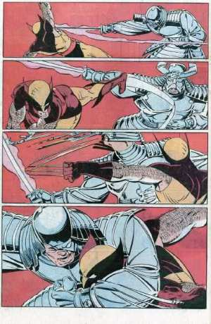 Wolverine vs. Samurai de Prata na arte de Paul Smith.