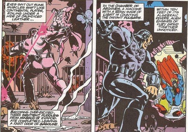 O Superman versus Mongul: conflito existencial por Alan Moore.
