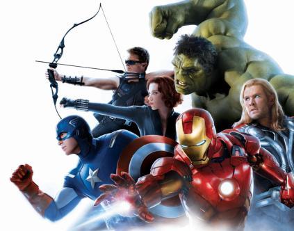 Os Vingadores: batendo 1,5 bilhões em bilheteria.