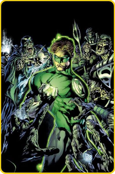 Hal Jordan nos quadrinhos. Arte do brasileiro Ivan Reis.
