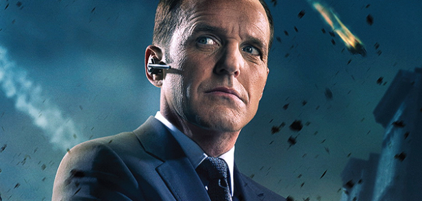 agent coulson in the avengers poster