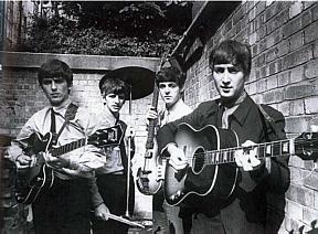 beatles 1963 in backyard