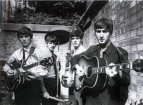 beatles 1963 in backyard