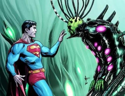 Superman e Brainiac na arte de Gary Frank.