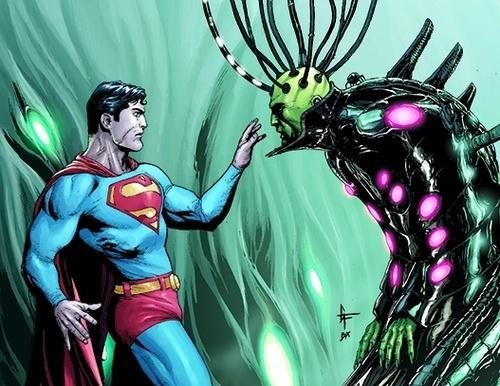 Superman e Brainiac na narte de Gary Frank.
