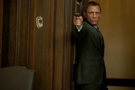 Daniel Craig como James Bond em Skyfall.
