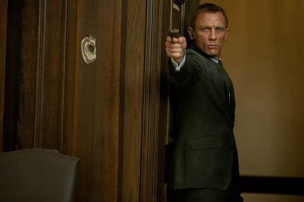 Daniel Craig como James Bond em Skyfall.
