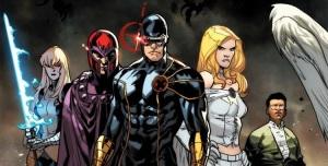 ... para lidar com problemas do presente. Aqui, Ciclope e Magneto juntos.