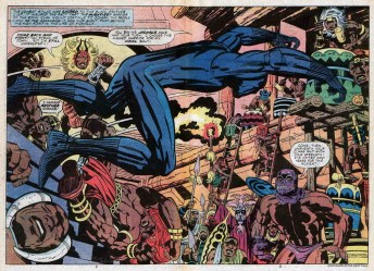 O Pantera Negra: primeiro super-herói negro dos quadrinhos, criado por Kirby e Stan Lee.