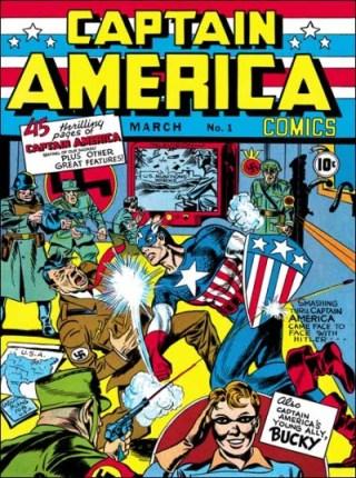 Capitão América: o grande estouro da Timely.