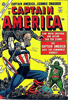 O Capitão América dos anos 1950 por John Romita.
