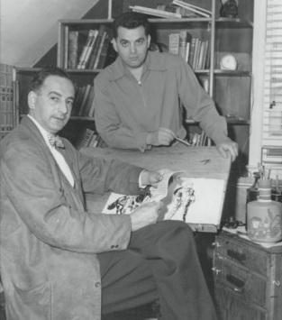 Joe Simon e Jack Kirby: primeiros editores da Marvel.