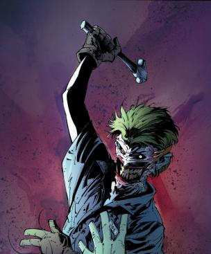 O Coringa em Death of the Family: ataque mortal.