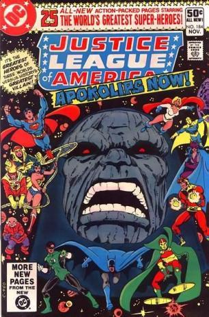 Capa de Justice League of America 184, escrita por Conway.