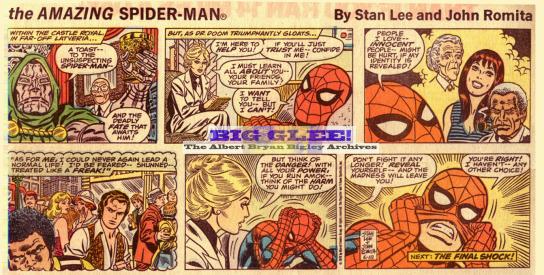 As tirinhas do Homem-Aranha por Lee e Romita: arte em estado puro.
