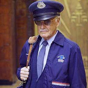 Stan Lee como o carteiro no filme do Quarteto Fantástico.