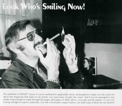 Stan Lee celebridade no início dos anos 1970: agora, Publisher da Marvel.