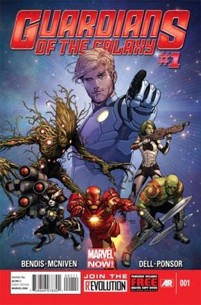 Os Guardiões da Galáxia nos quadrinhos: Homem de Ferro como membro.