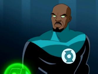 O Lanterna Verde John Stewart em sua versão animada.