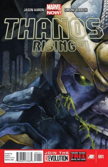 Capa de Thanos Rising: a origem do vilão contada em detalhes.