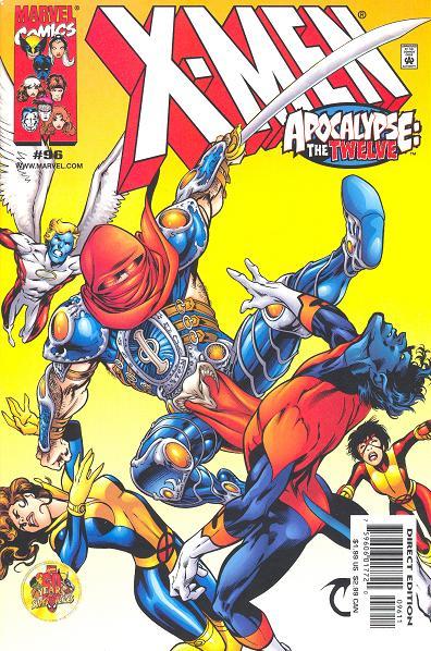 Os X-Men combatem o novo Morte, que é Wolverine. Capa de X-Men 96.