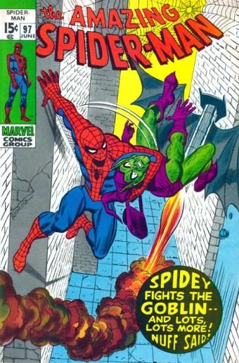 Homem-Aranha versus Duende Verde na arte clássica de John Romita.