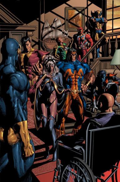 Os novos X-Men numa releitura do brassileiro Mike Deodato Jr.