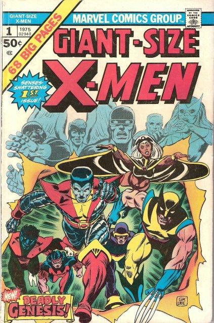 Capa de Giant-Size X-Men 01, por Gil Kane.