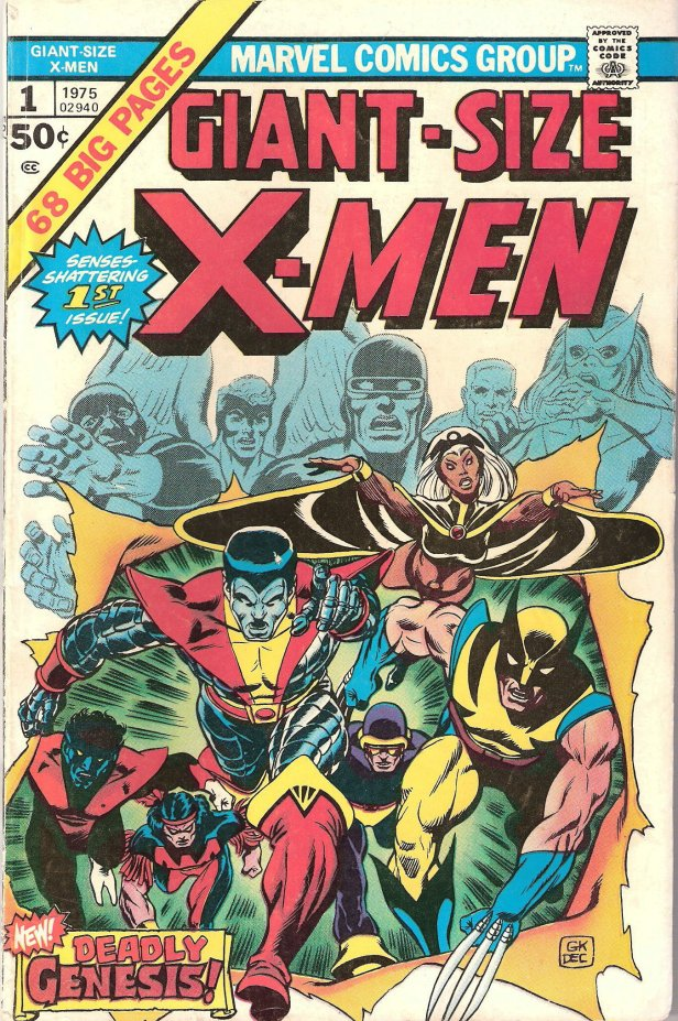 giant size x-men 01 cover by gil kane 1975