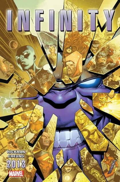 Primeira imagem de Infinity: Thanos ataca outra vez. Arte de Jim Cheung.