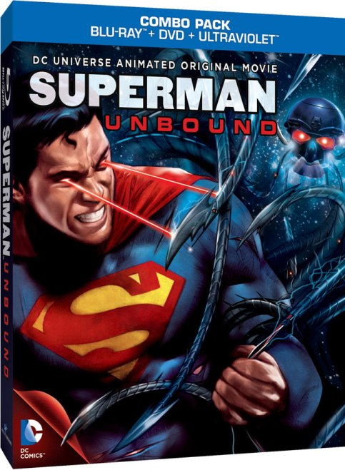 A capa do vídeo de Superman - Unbound.
