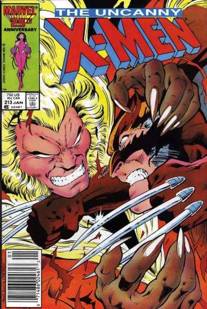 Fantástica capa de Alan Davis para o segundo round de Wolverine contra Dentes de Sabre.